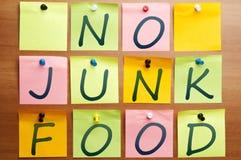Ninguna comida basura Fotos de archivo libres de regalías
