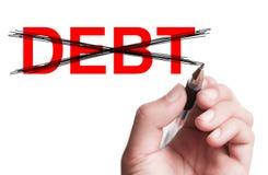 Ninguna deuda Foto de archivo libre de regalías