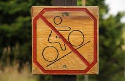 Ninguna entrada de la bicicleta Foto de archivo libre de regalías