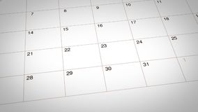 Ninguna fecha de día del tabaco marcada en calendario ilustración del vector