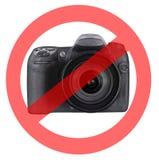 Ninguna fotografía permitida Imágenes de archivo libres de regalías