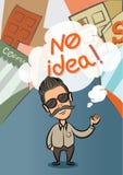 Ninguna idea en ciudad Imágenes de archivo libres de regalías