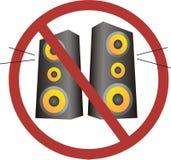 Ninguna música ruidosa Imágenes de archivo libres de regalías