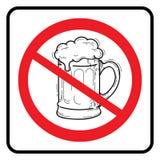 Ninguna muestra de la cerveza Muestra de la prohibición libre illustration