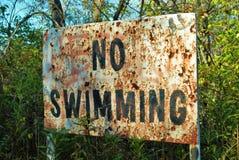 Ninguna muestra de la natación Imágenes de archivo libres de regalías