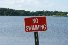 Ninguna muestra de la natación Fotografía de archivo libre de regalías