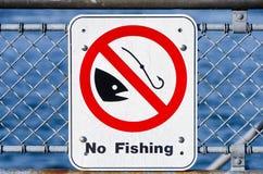 Ninguna muestra de la pesca Fotos de archivo libres de regalías