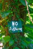 Ninguna muestra de la pesca foto de archivo libre de regalías