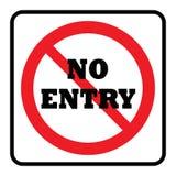 Ninguna muestra de la prohibición del icono de la entrada stock de ilustración
