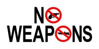 Ninguna muestra de las armas Foto de archivo libre de regalías