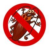 Ninguna muestra de las cucarachas stock de ilustración