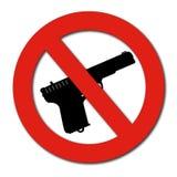 Ninguna muestra de los armas o de las armas Imagen de archivo libre de regalías
