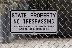 Ninguna muestra de violación a lo largo del I-10 en Phoenix Imágenes de archivo libres de regalías