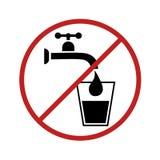 Ninguna muestra del agua potable libre illustration