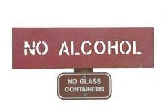 Ninguna muestra del alcohol fotos de archivo libres de regalías