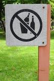 Ninguna muestra del alcohol de la bebida Fotos de archivo libres de regalías