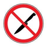 Ninguna muestra del cuchillo o del arma stock de ilustración
