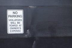 Ninguna muestra del estacionamiento Imagenes de archivo