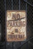 Ninguna muestra del estacionamiento Imagen de archivo