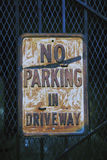 Ninguna muestra del estacionamiento Fotografía de archivo