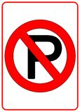 Ninguna muestra del estacionamiento Fotos de archivo