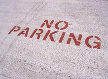 Ninguna muestra del estacionamiento Imágenes de archivo libres de regalías