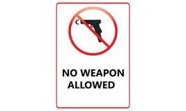 Ninguna muestra permitida arma - ningunas armas permitió a Logo Sign rojo - ilustración del vector