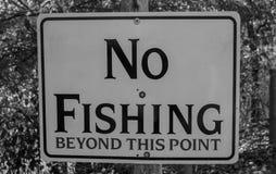 Ninguna pesca más allá de este punto fotografía de archivo libre de regalías