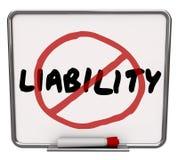 Ninguna responsabilidad reduce la prevención del peligro de la mitigación del riesgo Foto de archivo libre de regalías