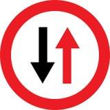 Ninguna señal de direcciones bidireccional Foto de archivo