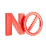 Ninguna señal de peligro prohibida no permitida Foto de archivo libre de regalías