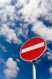 Ninguna señal de tráfico de la entrada Fotos de archivo