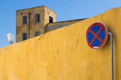 Ninguna señal de tráfico de detención Faro, Portugal Imagen de archivo