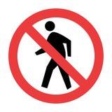 Ninguna señal de tráfico peatonal stock de ilustración