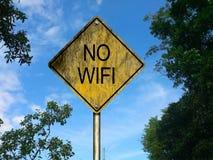 Ninguna señal de tráfico de Wifi Imágenes de archivo libres de regalías