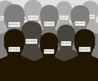Ninguna silueta de la gente de la voz Imagenes de archivo