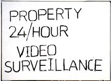Ninguna trenza que pasa la propiedad bajo vigilancia video foto de archivo libre de regalías