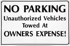 Ninguna zona ausente de la remolque del estacionamiento Foto de archivo libre de regalías