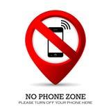 Ninguna zona del teléfono Foto de archivo libre de regalías