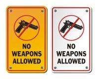 Ningunas armas permitidas - muestras del aviso stock de ilustración