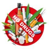 Ningunas drogas Fotografía de archivo