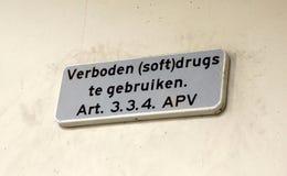 Ningunas drogas no prohibidas la muestra fotos de archivo libres de regalías
