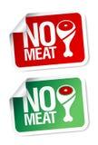 Ningunas etiquetas engomadas de la carne. Imagen de archivo