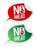 Ningunas etiquetas engomadas de la carne. Imágenes de archivo libres de regalías