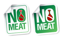 Ningunas etiquetas engomadas de la carne. Foto de archivo libre de regalías