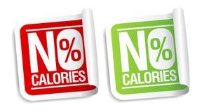 Ningunas etiquetas engomadas de las calorías. Fotografía de archivo libre de regalías