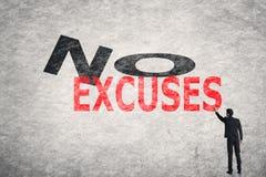 Ningunas excusas Imagenes de archivo