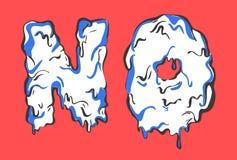 Ningunas letras Palabra de fusión Imagen de archivo