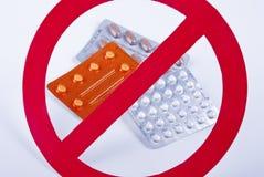 Ningunas medicinas Imágenes de archivo libres de regalías