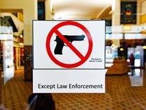 Ningunos armas no prohibidos la muestra, Chicago Illinois fotografía de archivo libre de regalías